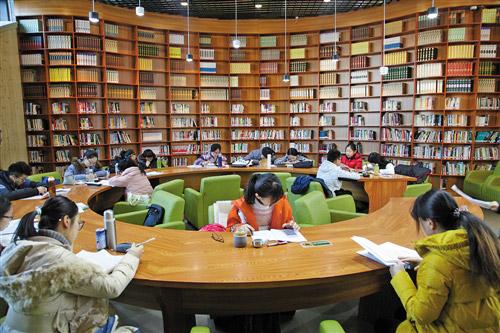 图书馆里书香浓图片
