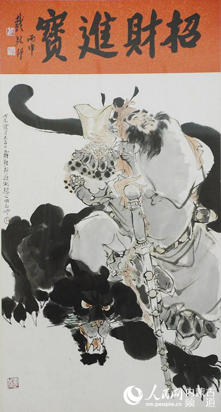 """传统绘画技法,贯彻理解文化自信. 据悉,""""?-上善若水 传统绘画展"""