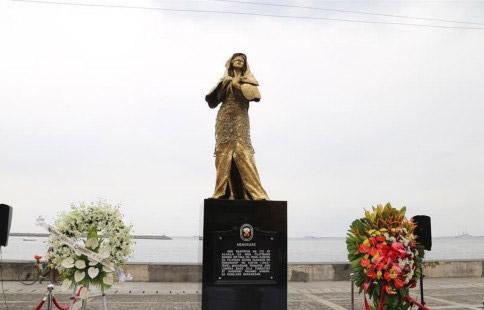 """菲律宾设立首座二战""""慰安妇""""铜像"""