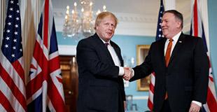 美国国务卿会见英国外交大臣
