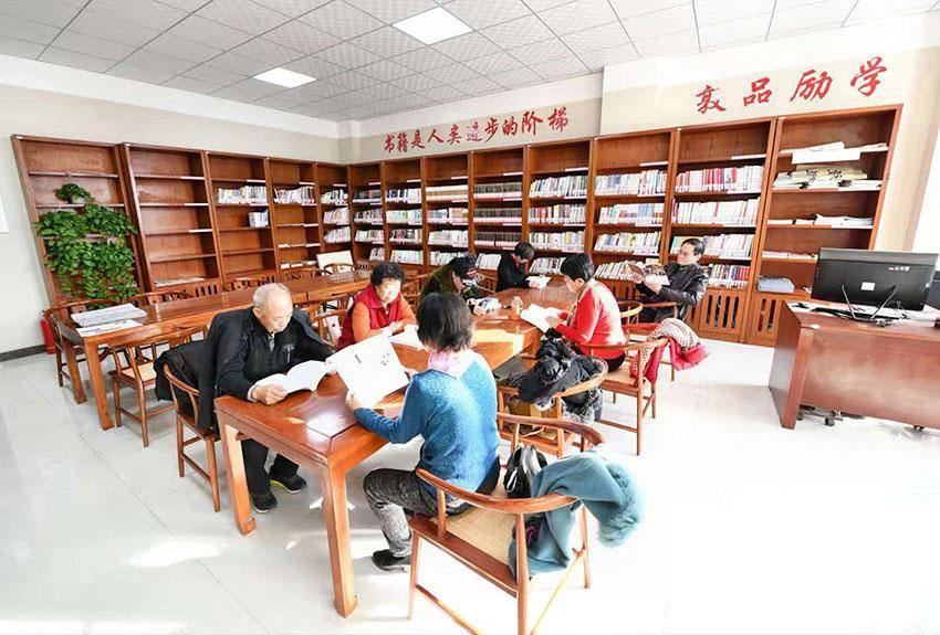 北梁新区里设置的图书室