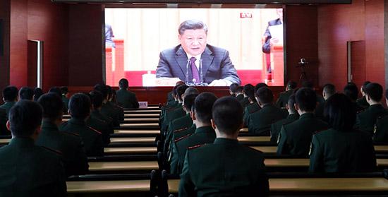 内蒙古公安边防官兵收听收看庆祝更始开放40年相近年大会抠抠视频秀注册机